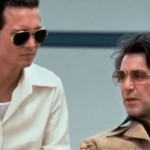 Johnny Depp and Al Pacino as Donnie Brasco and Left Ruggiero in the 1997 hit movie Donnie Brasco